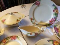 Pretty Vintage 1930's Crown Ducal Dinner Service.