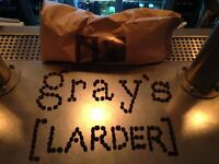 Chefs of all levels for Gray's Larder