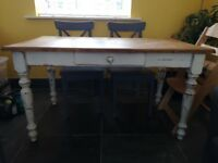 Rustic painted dining table