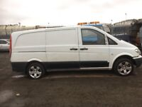 Mercedes Vito 109cdi lwb 2007 year breaking bumper bonnet wings lights prop shaft seats