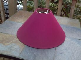 Maroon coloured fabric lampshade