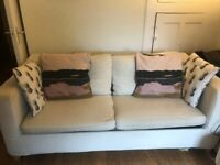 2 seater IKEA cream sofa bed