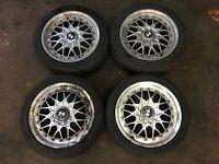 "BMW E36 328i Sport 17"" Alloy Wheels BBS RC 041 & 042 M3 Split Rim Geniune Staggered 5x120 VW Audi"