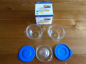 """EASY-COOK"" EGG SEPERATOR with 2 PREP POTS and LIDS, BRAND NEW in ORIGINAL BOX"