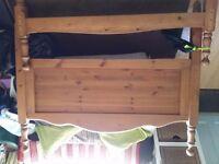 Free Pine bed frame.