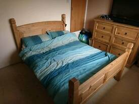 Rustic Mexican Solid Pine Bedroom Furniture