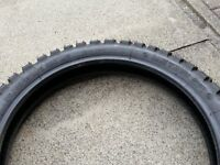 Front Metzeler 110/80-19 dirt bike tyre