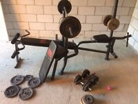 **FREE** Weight Bench and Weights