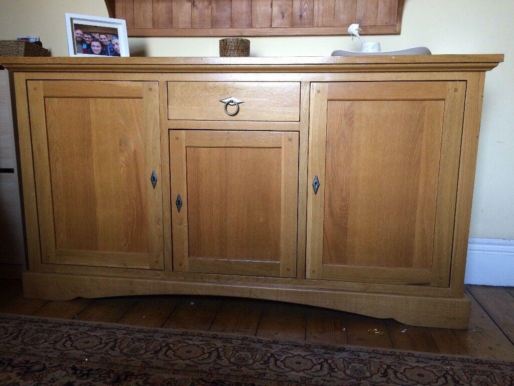 John Lewis solid oak sideboard, lovely condition.