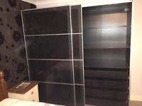 IKEA glass front double wardrobe