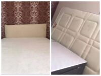 Almost new double bed with storage available for sale.