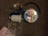 "Spray gun , hose, 1/4"" adapters"