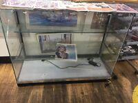 Glass shop display cabinet 5 side display
