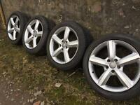 20 inch Audi Q 7 alloys wheels with new tyres
