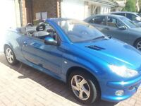 2004 Peugeot 206 CC Convertible on Private Plate