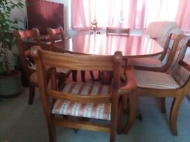 Wood Table and Chairs Set