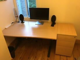 Large desk, drawers and chair for sale