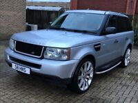 LAND ROVER RANGE ROVER SPORT 2.7 TDV6 S DIESEL AUTOMATIC SILVER TOWBAR N X5 VOGUE DISCOVERY ML