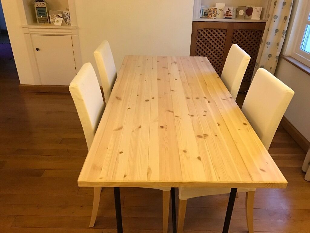 Ikea ryggestad dining table with 4 chairs in sevenoaks for Ikea dining table and chairs set