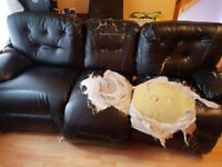 Free 3 seater leather reline sofa