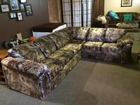 L-shaped sectional couch with hide-a-bed