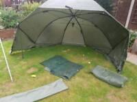 Carp fishing Overnight shelter and Wrap