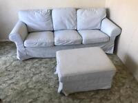 Ektorp 3 seater sofa and foot stool