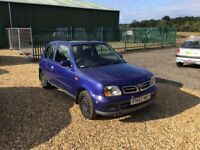 2002 Nissan Micra 1.0 6 Months MOT Service History 2 Former Keepers 2 Keys Cheap Car