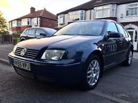 2005(55)VW BORA 1.6 HIGHLINE,LEATHER HEATED SEATS,77000 LOW MILES,2KEYS,MOT MAY2018,AIR-CONDITIONING