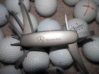 29 golf balls + MERCEDES GOLF TOOL
