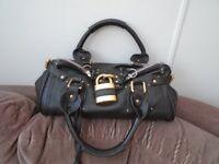 Good quality leather brown ladies' handbag
