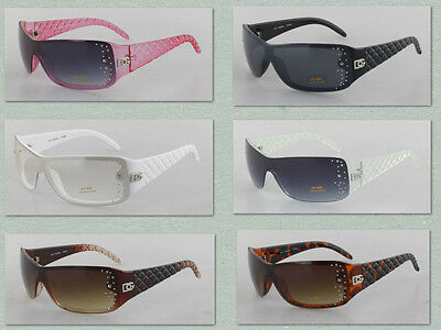Wholesale Dozen Rhinestone Women Sunglasses Wrap Plastic Fashion DG Eyewear 221