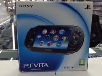 USED PS VITA - GRADE B - BLACK - GRADE A MODEL ALSO AVAILABLE - CAN BE SWAPPED IN STORE FOR GADGETS