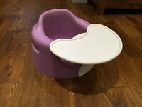 Bumbo seat with feeding tray