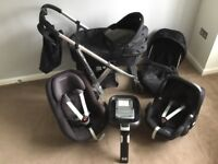 Oyster Pram and Maxi-Cosi Car Seats Set Ages 0-4 yrs £375 ONO