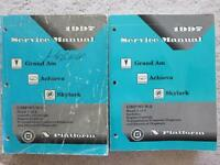 2 Service Manuals for 1997 Pontiac, Oldsmobile, Buick