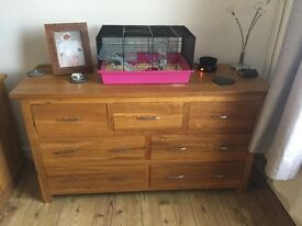 Solid wood side unit and matching tv unit. Great condition.