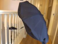 Mothercare navy universal pushchair / stroller parasol / umbrella