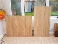 solid wood top - oak