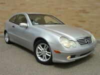 2003 Mercedes-Benz C-Class C230 Kompressor Coupe, 6 speed! Only