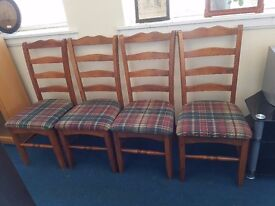 Set of 4 Oak Dining Chairs