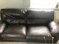 Brown 3 seater and armchair for sale