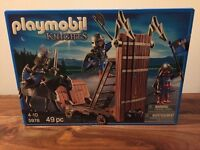 PPLAYMOBIL 5978 Blue knights with Battering Ram BRAND NEW IN BOX