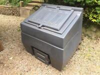 Titan 600kg Capacity Coal Bunker - Grey - Top and Bottom Opening