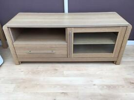 Oak Effect Entertainment Unit / Television Stand