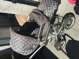 Mamas and papas unisex pram and buggy and carseat
