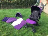Silver Cross Reflex Pushchair With Newborn Accessory Pack - Damson - Stroller