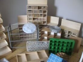 CRAFTERS and small SHOP OWNERS: big varied array of storage, tables, organisational items for sale