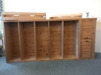 2 Very LARGE Pine Bookcases | GOOD Condition | Custom Made | STRATFORD E15