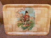 Japanese print tea tray
